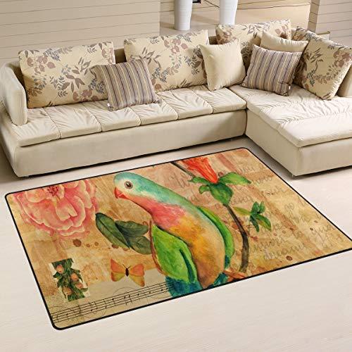 XiangHeFu gebied tapijten voor Living Eetkamer Slaapkamer Deurmatten Decoratieve Muziek Letter Vogel Bloem Art Patroon 2'7