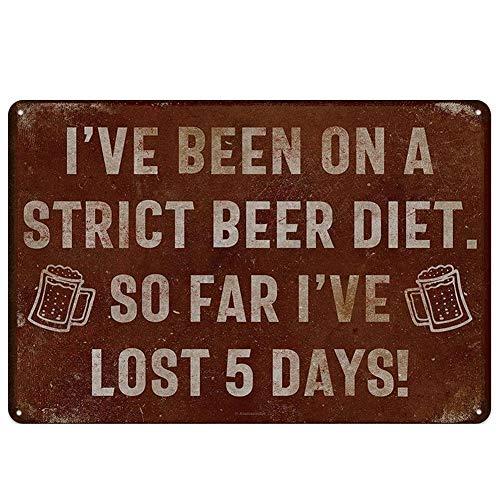 Partage 1 x Alkohol-Bier Vintage Blechbild zum Aufhängen Kunst Eisen Gemälde Vintage Cafe Bar Pub Büro Stadion Kino Geschenk Stil Nr. 4
