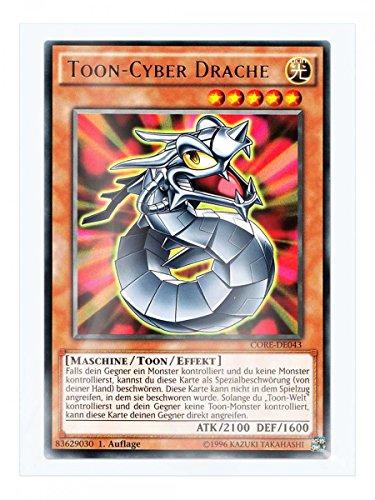 CORE-DE043 Toon-Cyber Drache 1. Auflage im Set mit original Gwindi Kartenschutzhülle