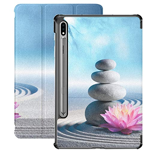 Cool Spa Stones And Lily Flowers In Zen Garden Samsung Galaxy Tab S7 Book Cover For Samsung Galaxy Tab S7/s7 Plus Tablet Cases Stand Back Cover Case Galaxy S7 For Galaxy Tab S7 11 Inch S7 Plus 12.4 I