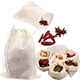 24 Pieces Reusable Drawstring Soup Bags, Muslin Bag, Straining Cheesecloth Bags Soup Gravy Broth...