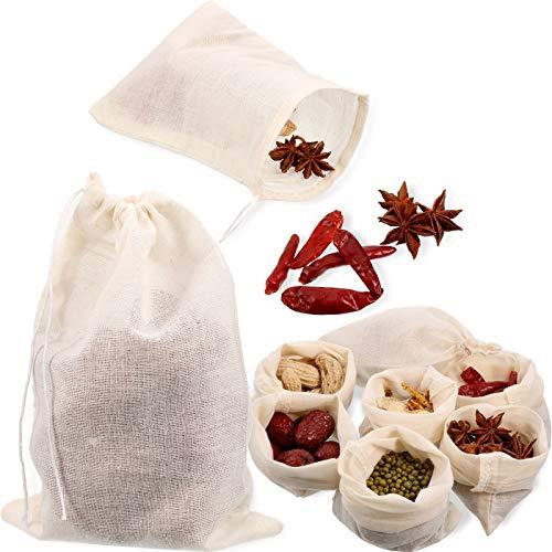 24 Pieces Reusable Drawstring Muslin Bag