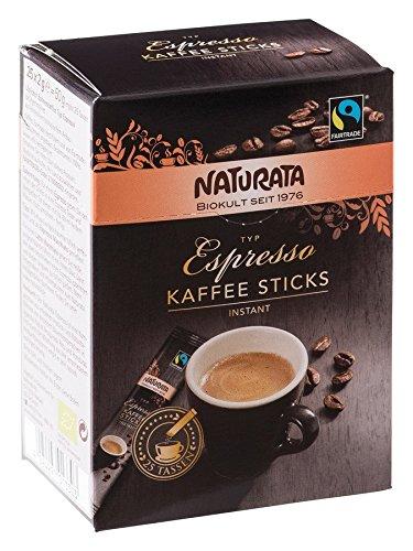 Naturata Bio Espresso Kaffee-Sticks, Bohnenkaffee instant (8 x 25 Stk)