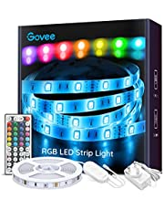 Govee LED Strip Lights 5m RGB Colour Changing Lighting Strip with Remote and Control Box for Home TV Kitchen DIY Decoration
