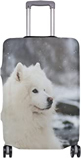 Mydaily Samoyed Dog Winter Luggage Cover Fits 28-29 Inch Suitcase Spandex Travel Protector L