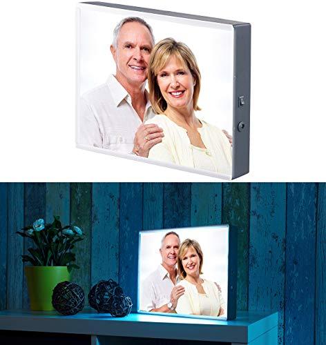infactory Foto Leuchtkasten: LED-Leuchtkasten für individuelle Bilder auf Folie und Papier, DIN A4 (Leuchtkasten für Fotos)