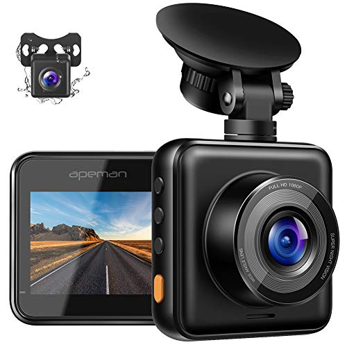 APEMAN Dual Dash Cam for Cars Front and Rear with Night...