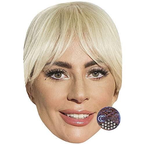 Lady Gaga (Smile) Maschere di persone famose, facce di cartone