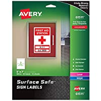 LABEL,SS SIGN,5X7,30PK,WH