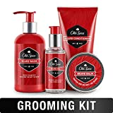 Old Spice, Beard Kit for Men - Oil, Balm, Shampoo, Wash, and Conditioner, Beard Care & Grooming Kit