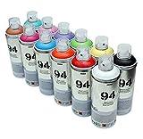 MTN 94 - Pintura en aerosol (12 latas de 400 ml, acabado mate, pintura sintética)