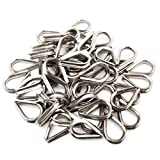 TOYELIU 50 PCS M3 Stainless Steel Thimble for 1/8 Inches Diameter Wire Rope