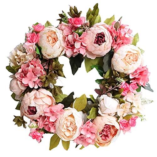 Flor artificial de la puerta de la guirnalda de simulación Garland decoración floral para Suministros rosa claro Oficina del Festival de boda Inicio granja Utilidades Jardín
