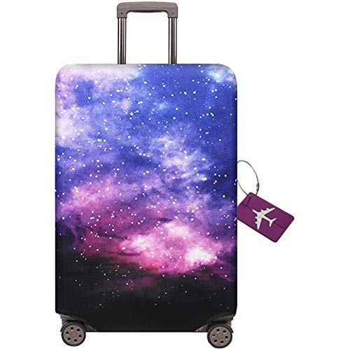 AOAKY Travel Luggage Cover Suitcase Protector Cover Elastic Trolley Case Protective Cover 22-32 Inch Luggage Travel Suitcase Protector Washable Luggage Trolley Case(Send a Luggage tag for Free)