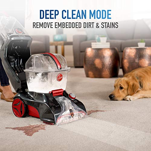 Hoover Power Scrub Elite Pet Upright Carpet Cleaner and Shampooer, Lightweight Machine, Red, FH50251PC