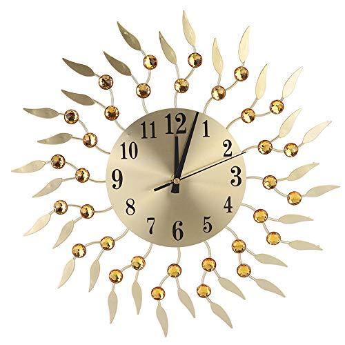 Reloj de Pared Cuarzo Silencioso Forma de Flor Innovadora Reloj de Pared Decorativo Funciona con Pilas Reloj Digital de Estilo Moderno para el Hogar Oficina Escuela Decoración de Aula Fácil de Leer