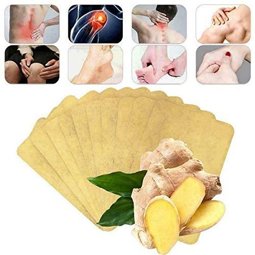 Mantener caliente, comprimir vértebra cervical, parche de jengibre a base de hierbas, pasta para las articulaciones del cuello, parche de jengibre curativo de desintoxicación linfática (80 piezas)