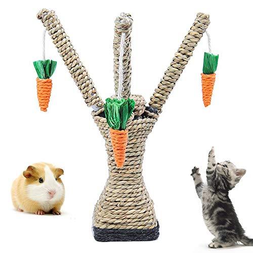 Feli546Bruce Kratzbaum für Katzen, Hamster, Klettern, Karottenbaum, Regal, Kratzbaum und Kauspielzeug Stall, Katze, Kratzpfosten, Funktion Katze, Kletterturm, Spielzeug