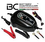 BC Battery Controller BC JUNIOR 900, Caricabatteria e Mantenitore Intelligente per tutte le Batterie Auto e Moto 12V Piombo-Acido, 1 Amp