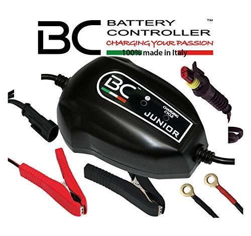 BC Battery Controller 700BCJP BC JUNIOR 900, Intelligentes Batterieladegerät und Erhaltungsladegerät für alle 12V Blei-Säure Autobatterien und Motorradbatterien, 1 Amp