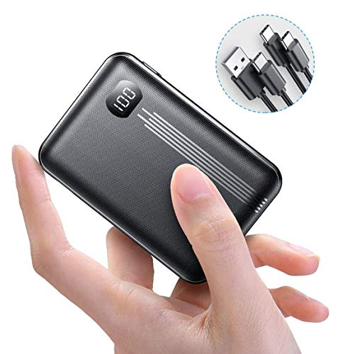 AINOPE [2020 Upgraded Version] 10000mAh Mini PD Power Bank [ Dual QC3.0 Port ] [ USB-C Input & Output ], 3A Quick Charge Externer Akku, kompatibel mit iPhone, Samsung, iPad Pro