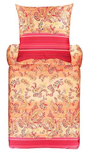 Bassetti Just Contempo - Funda de cojín (100% algodón, 40 x 80 cm), Color Naranja
