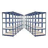 Estantería de acero resistente para garaje, 10 compartimentos, 275 kg por estante (5...
