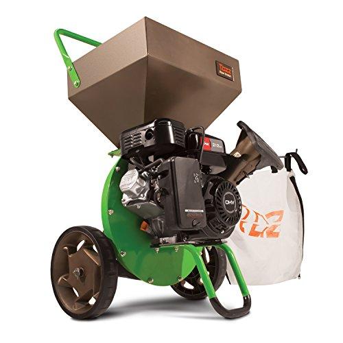"TAZZ TazzChipper Chipper Shredder 35259, Heavy Duty 212cc, 4-Cycle Viper Engine, Rugged Debris Bag, Steel Hopper, Shred Branches up to 3"" in Diameter, 3 Year Warranty, Green"