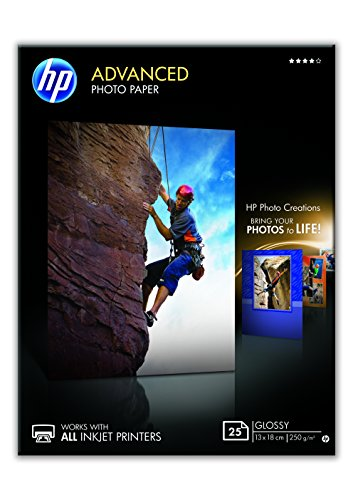 Hp Q8696A Advanced Glossy Fotopapier 250G/M2 13X18Cm 25 Vellen, Wit