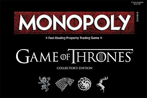 USAOPOLY Monopoly Game of Thrones Board Game | Collectable Monopoly Game | Official Game of Thrones Merchandise | Based on The Popular TV Show on HBO Game of Thrones | Themed Monopoly Board Game