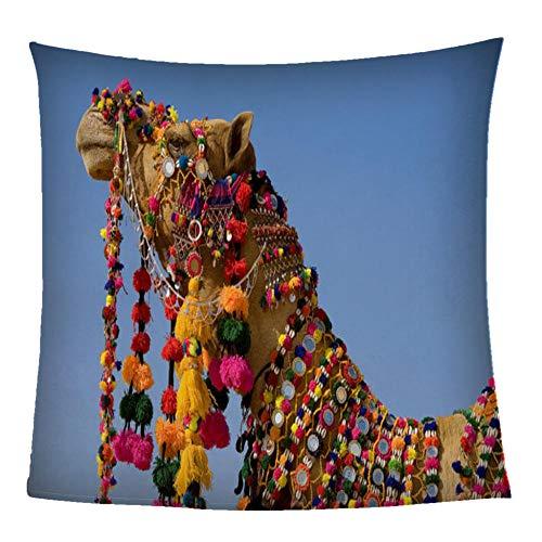 Manta Franela para Sofá Camello Animal 3D 130X150CM Súper Suaves Esponjosas Hipoalergica para El Sofá Cama Colcha De Microfibra,Tamaño Viaje/Individual para Niños, Adultos