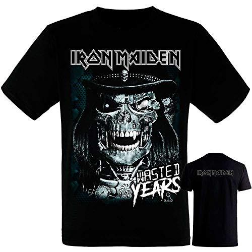Camiseta Iron Maiden Eddie Future - Manga Corta Negra Hombre -Tshirt - Camiseta Iron (S)
