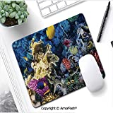 Heat Transferred Printing Waterproof Keyboard Pad,Mouse Mat for Gamer,11'x13.8',Ocean,Colorful Coral Reef and Fishes Colony in Red Sea Egypt Africa Underwater Life Image,Multicolor
