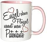 Mister Merchandise Kaffeebecher Tasse Engel ohne Flügel nennt Man Patentante