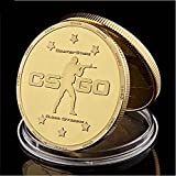 valungtung Monedas Conmemorativas Juego De Disparos CS.Go Counter Strike Global Offensive Chapado En Oro Replica Coleccionables De Metal Recuerdo