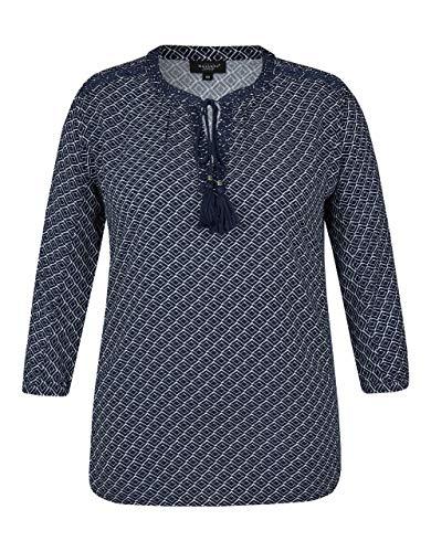 Bexleys Woman by Adler Mode Damen Bluse Druck blau/weiß 54