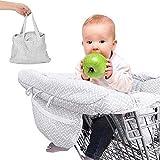 80cm Fundas de asiento ajustables para bebé supermercado de la compra, sillas de paseo lavables y organizadores más suaves, para mantener a los niños seguros - Grueso
