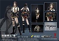ルールーショップ ベリー・クール 1/6 女性 アクション フィギュア フルセット VC-CF-04 Double Agent 「Zero」 Acition figure