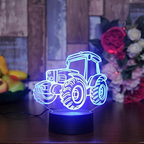 Yujzpl 3D-illusielamp Led-nachtlampje, USB-aangedreven 7 kleuren Knipperende aanraakschakelaar Slaapkamer Decoratie Verlichting voor kinderen Kerstcadeau-trekker