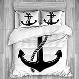 Juego de funda nórdica de 3 piezas, anchor-vector-logo-icon-náutico-maritime-1019103784src = QMOt-JQQUq8Av4Tsy61MZw-72-55, juegos de fundas de edredón de edredón de plumas para dormitorio, colcha con