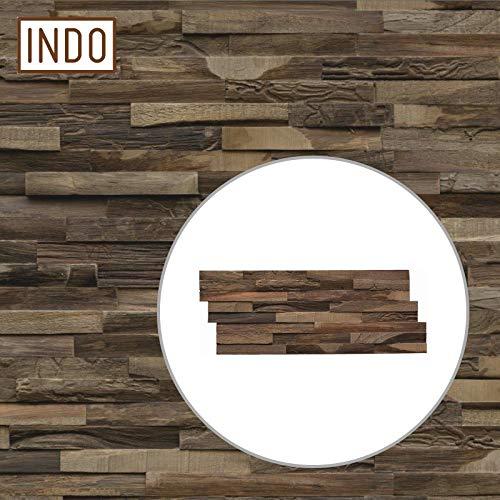 INDO Holz Wandverkleidung Wandverblendung Teak Elegance Charred Fläche 1 m²