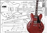 Plan de Gibson Es-355Hollow Body Guitare électrique–Full Échelle d'impression
