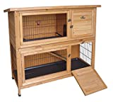 Easipet Wooden Rabbit or Guinea Pig Hutch - Two Tier 21339