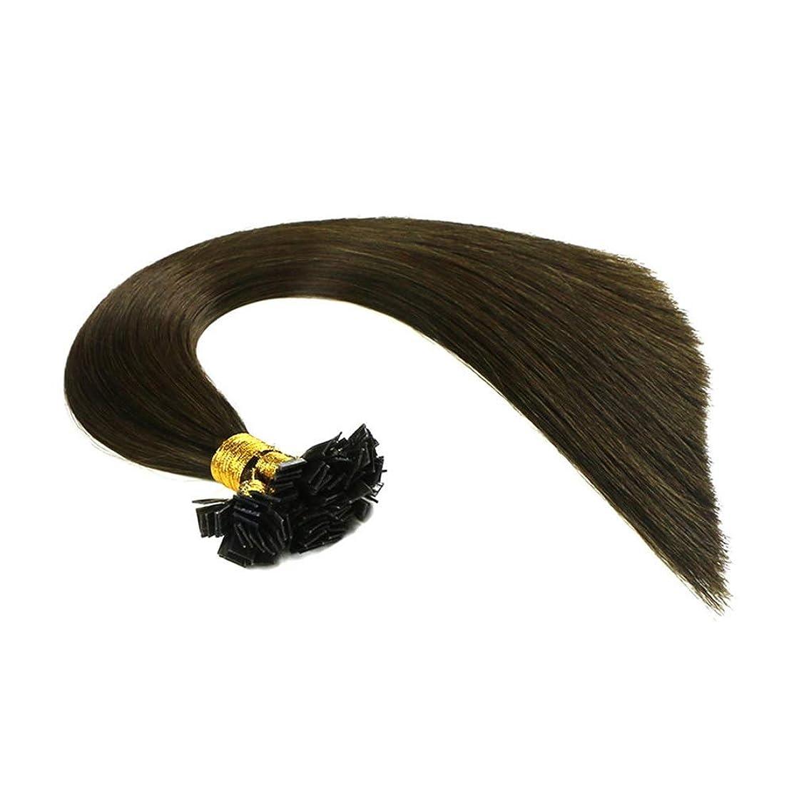 興味感情朝の体操をするJULYTER ナノリングヘアエクステンション100%ブラジル人毛ナノヘアエクステンション (色 : Photo color, サイズ : 26 inch)