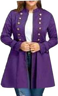 Macondoo Women Double-Breasted Outerwear Windbreaker Mid-Long Trenchcoats