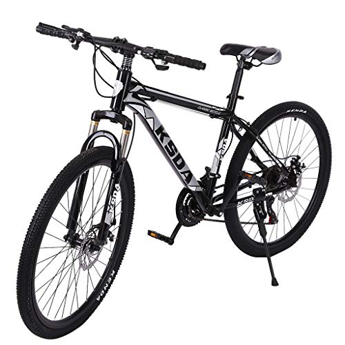 26' 21-Speed Mountain Bike, Junior Outdoor Racing Cycling Bicycle, Trigger Shifter Dual Disc Brake Front Suspension MTB Bikes for Men Women