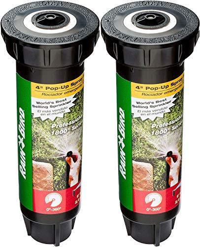 Rain Bird 1804VAN Professional Pop-Up Sprinkler, Adjustable 0° - 360° Pattern, 8' - 15' Spray Distance, 4' Pop-up Height - 2 Pack