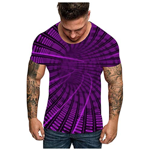 Transser Unisex Stylish 3D Printed Graphic Short Sleeve T-Shirts for Women Men Casual Summer Top