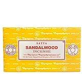 Satya Nag Champa-Bastoncini di incenso in Legno di Sandalo, Giallo, Confezione da 12