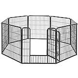 FEANDREA ペットサークル 中大型犬用 ペットフェンス 全成長期使用可 室内外兼用 カタチ変更可 犬ゲージ パネル8枚 折り畳み式 組立簡単 NPPK88H クリスマス